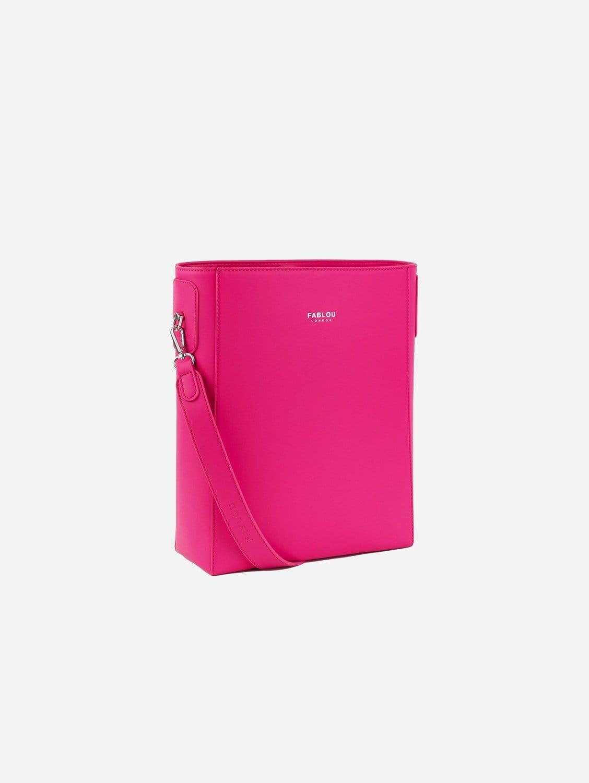 Charlotte Vegan Leather Tote Bag   Hot Pink