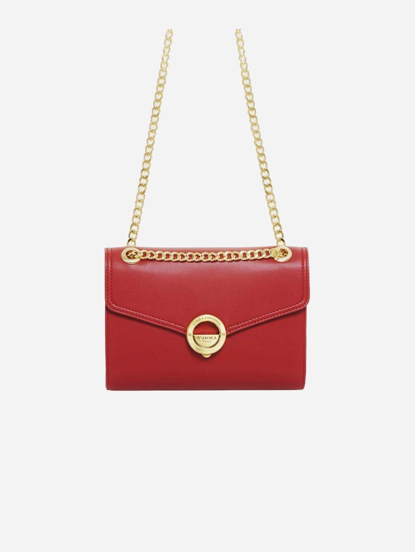 Pamela AppleSkin Vegan Leather Crossbody | Red
