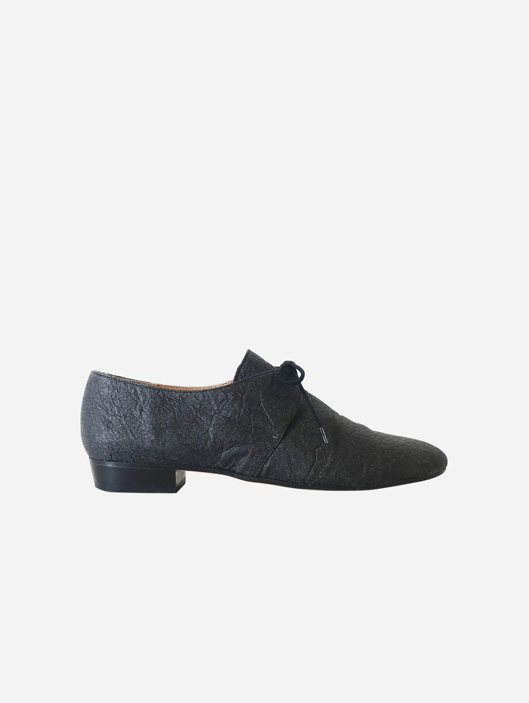 Tapir Vegan Piñatex Leather Flats | Black