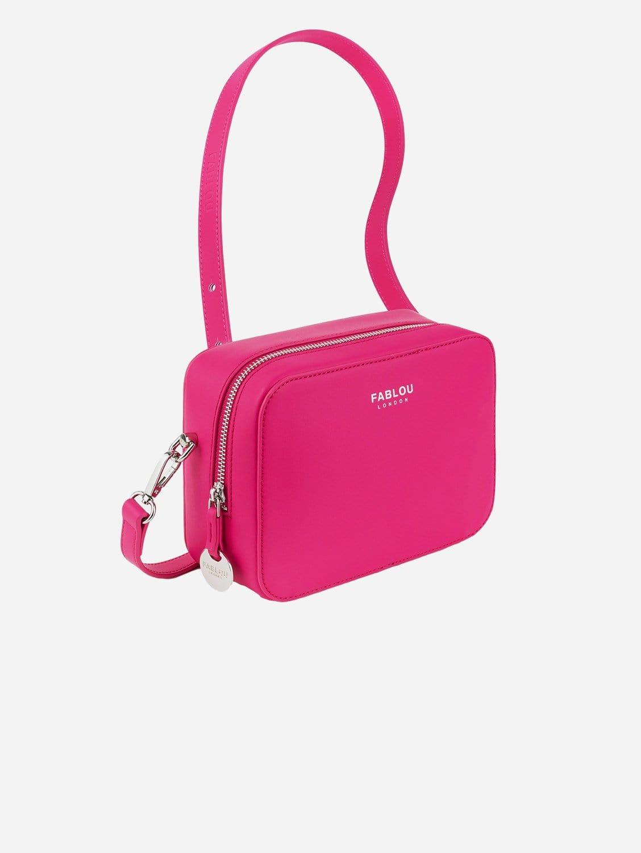Chelsea Vegan Leather Crossbody Bag   Hot Pink