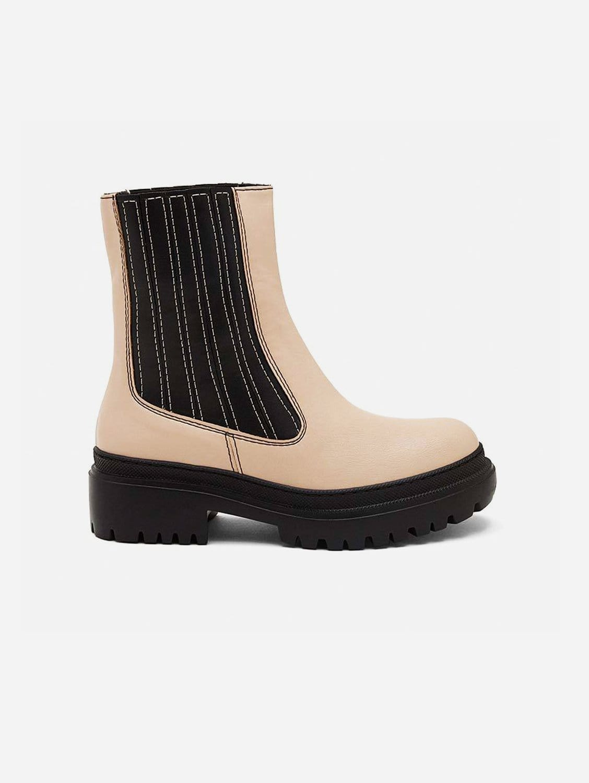 Irlanda Vegan Leather Boots   Beige