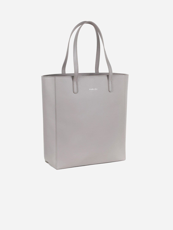 City Vegan Leather Tote Bag | Steel Grey