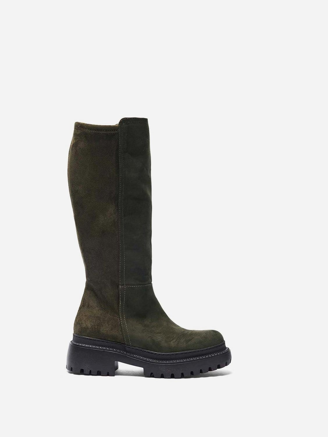 Laila Recycled Polyester Vegan Suede Winter Boots   Khaki