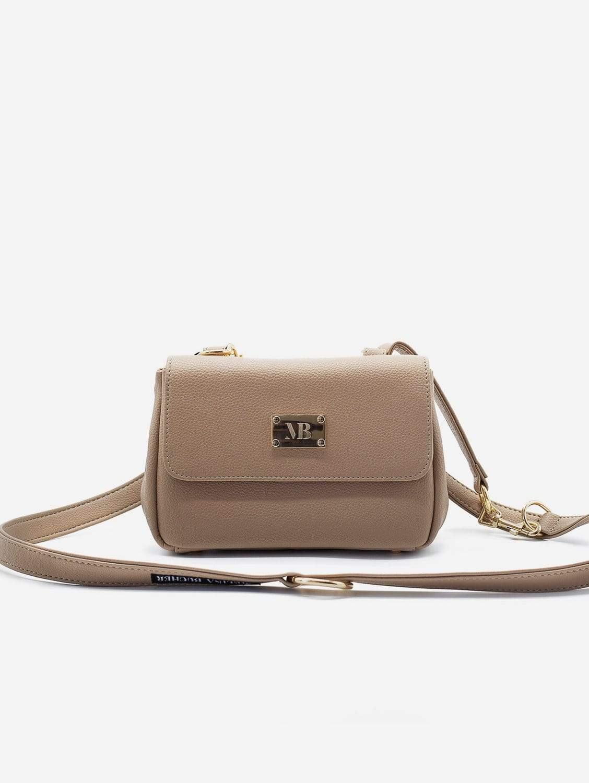 Trudy Vegan Leather Crossbody Clutch Bag | Nude Beige or Black