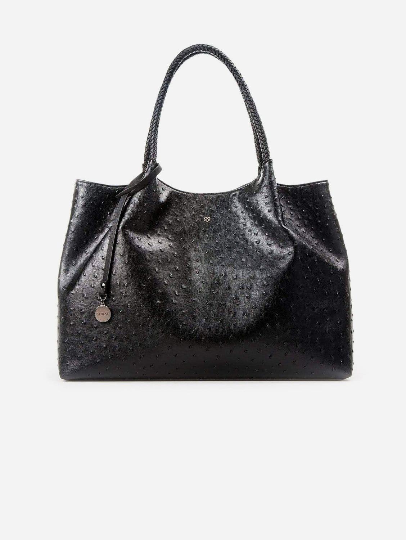 Naomi Vegan Leather Tote Bag | Black
