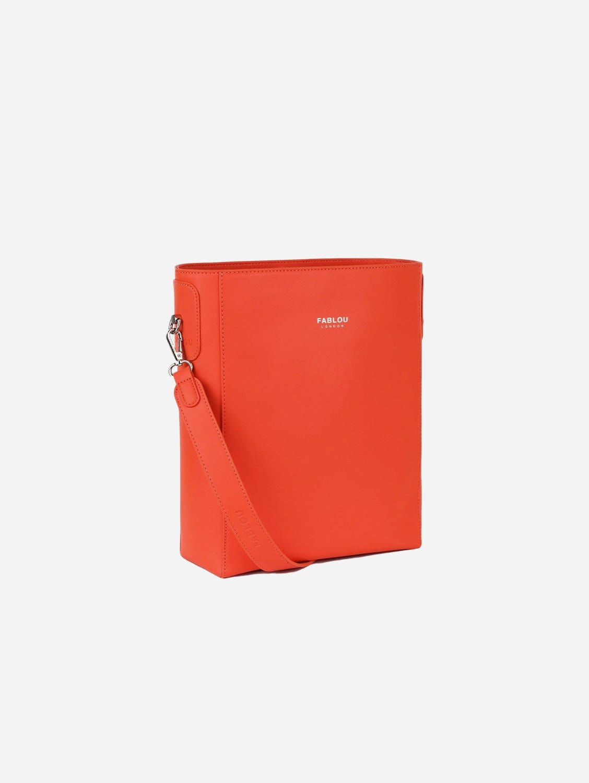 Charlotte Vegan Leather Tote Bag   Tangerine