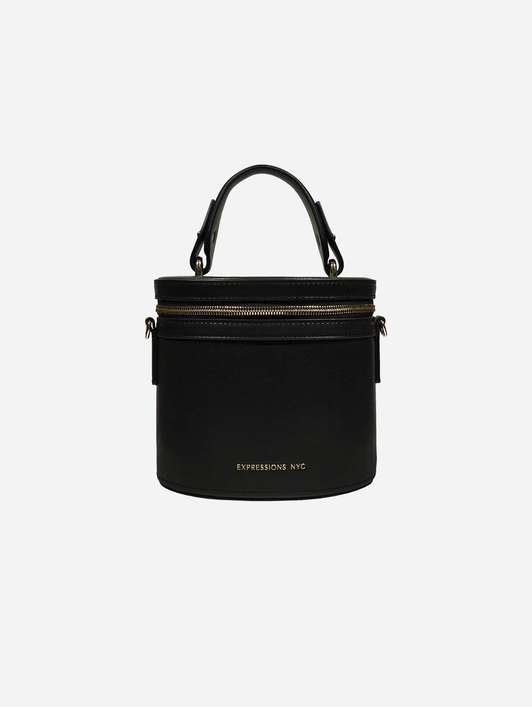 DOWNTOWN Vegan Leather Top Handle Bag | Black