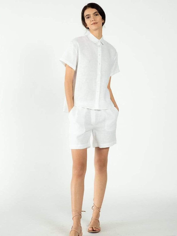 Riga Organic Linen Shorts   Multiple Colours
