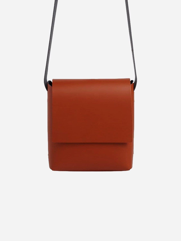 Origami Recycled Vegan Leather Crossbody Bag | Cognac