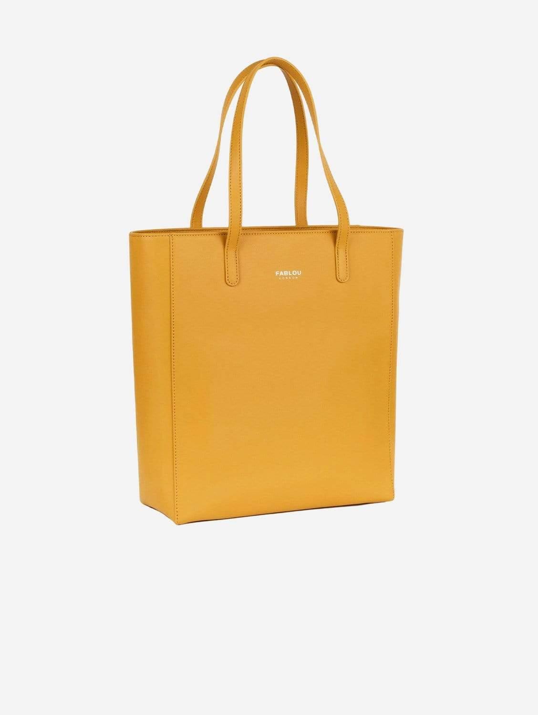 City Vegan Leather Tote Bag | Ochre