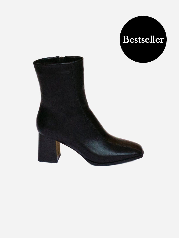 Roka Up-Cycled Vegan Leather Boot   Black
