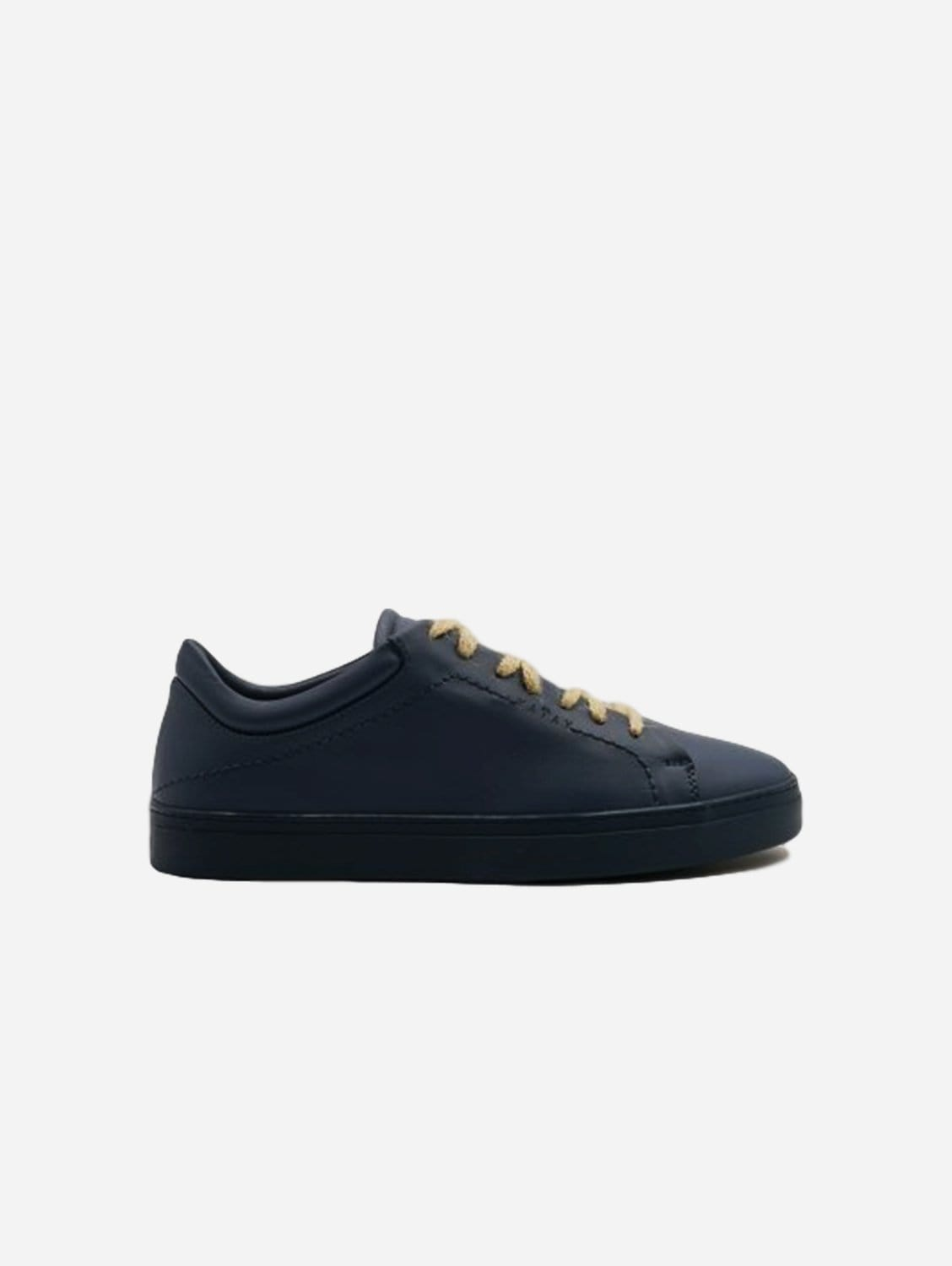 Neven Vegan Leather Low-Top Trainer | Ocean Abyss