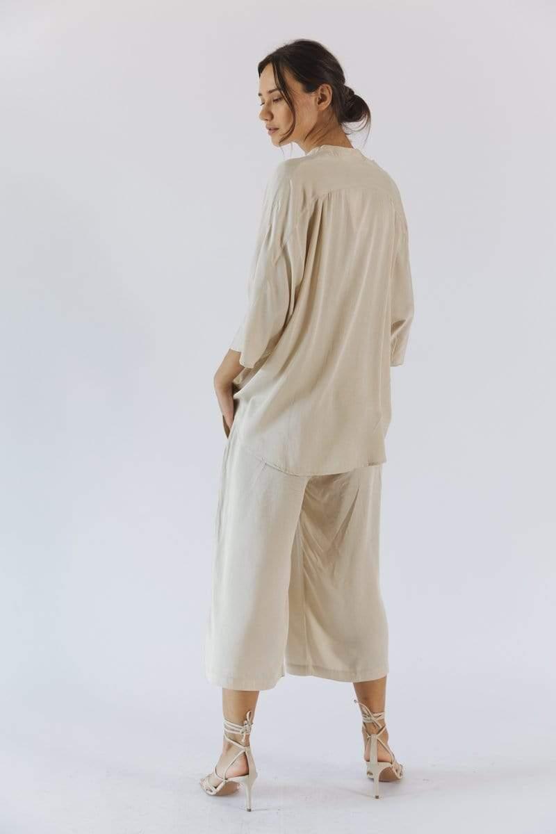 Kerala TENCEL™ Modal 3/4 Sleeve V-Neck Blouse   Multiple Colours