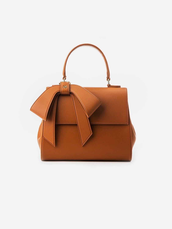 Cottontail Vegan Leather Handbag   Tan