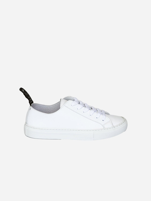Samo Vegan Leather Trainer | White