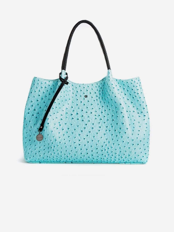 Naomi Vegan Leather Tote Bag   Light Blue