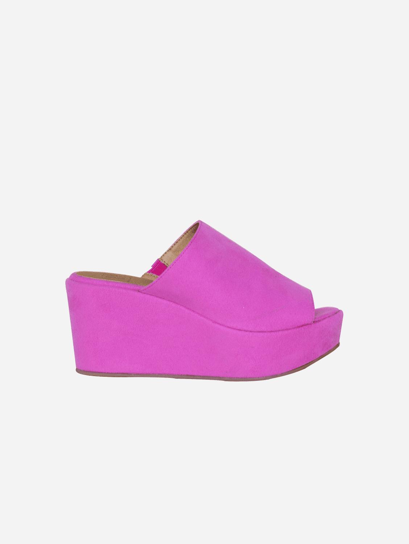 Cory Vegan Suede Platform Shoes | Fuschia
