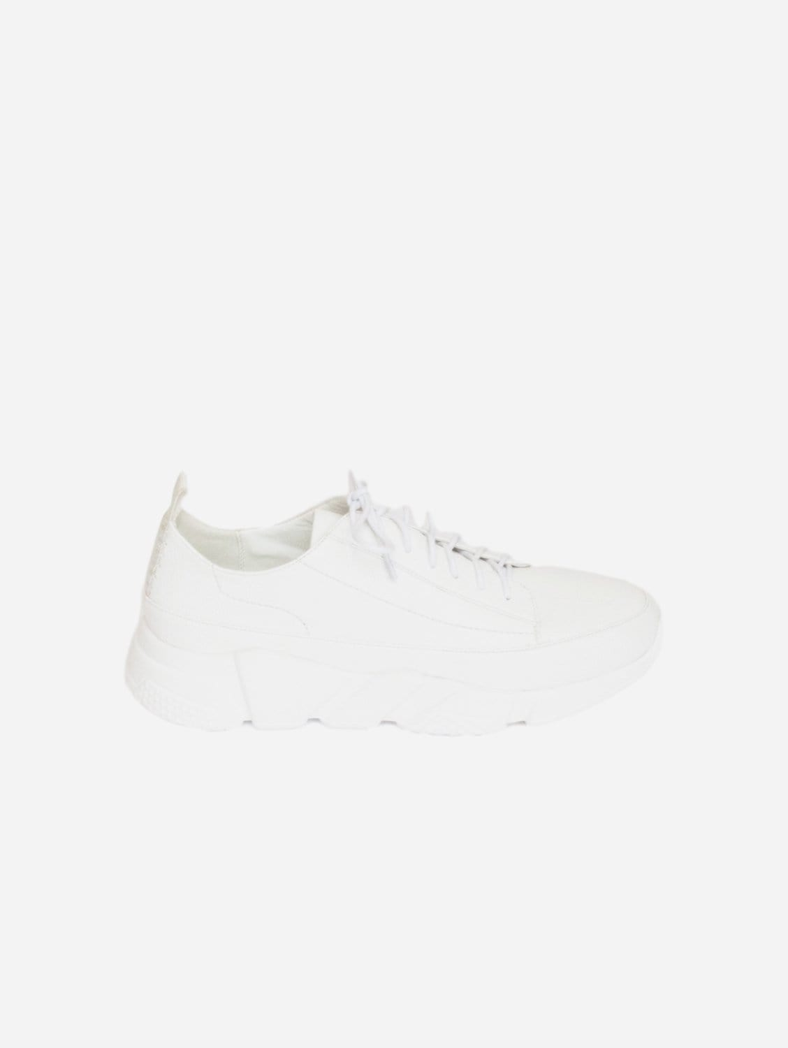 Gia Aspro Up-Cycled Vegan Leather Trainer | White
