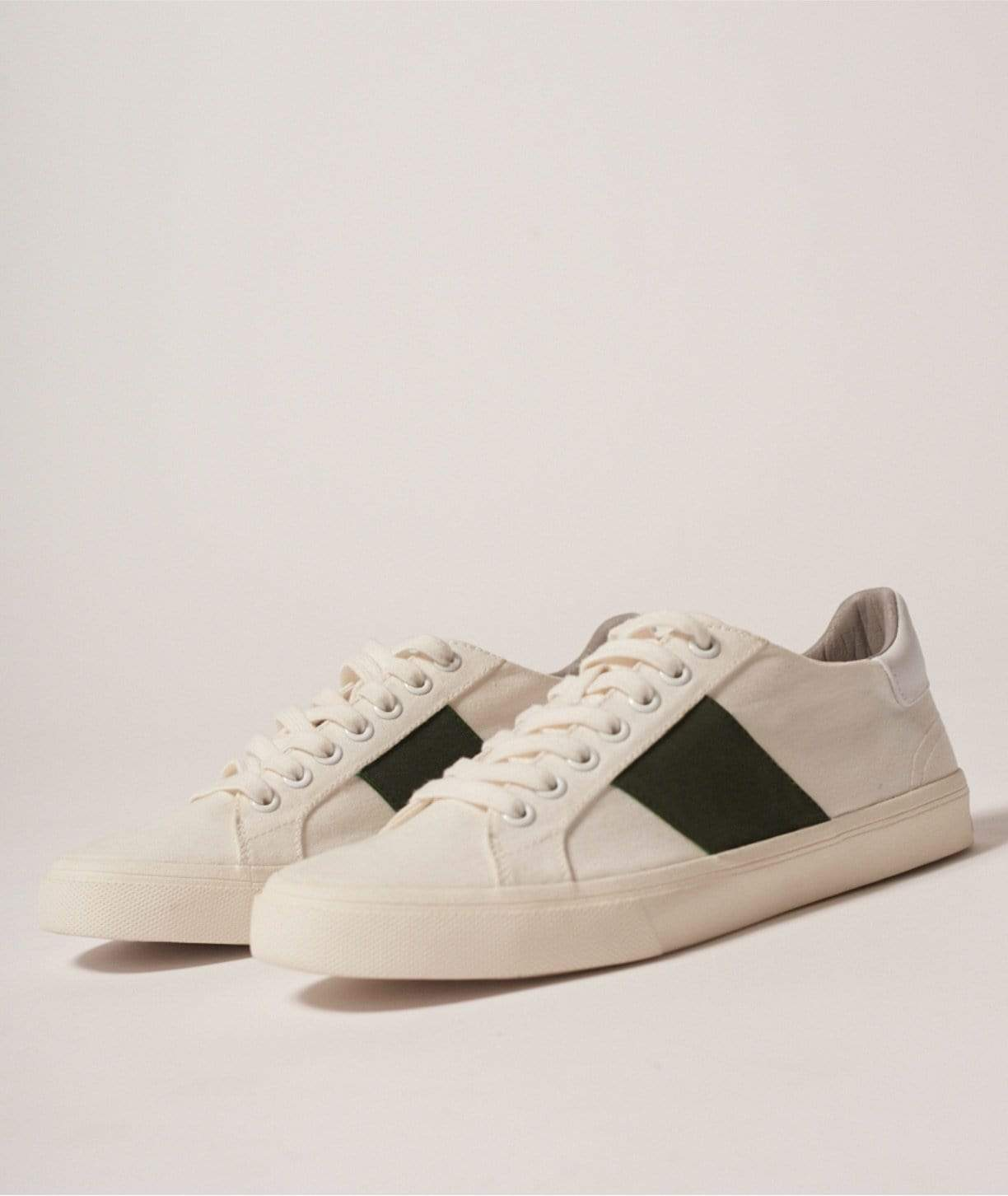 Elliott Climate Positive Recycled Canvas Trainer | White/Green