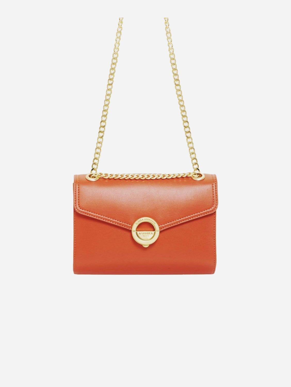 Pamela AppleSkin Vegan Leather Crossbody | Terracotta