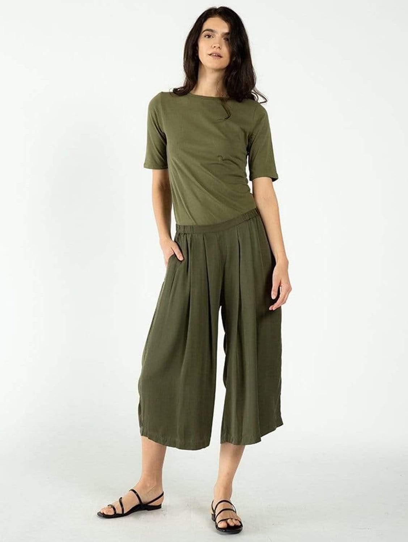 Cropped TENCEL™ Vegan Silk Culottes | Multiple Colours