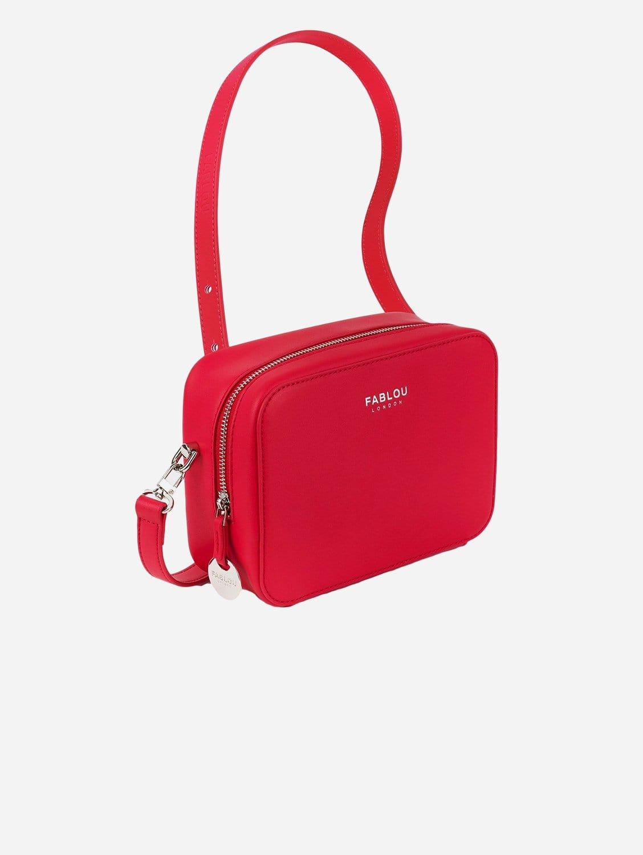 Chelsea Vegan Leather Crossbody Bag | Cranberry