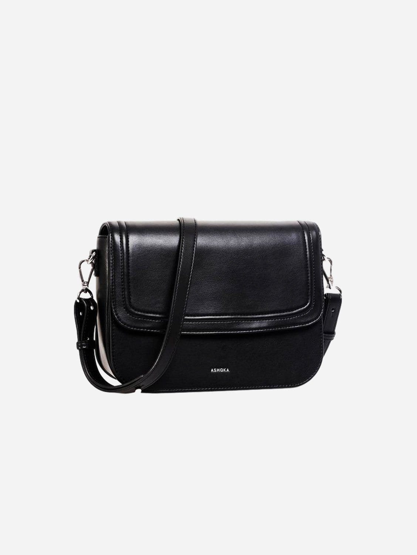Brigitte Couture Apple Leather Vegan Handbag   Black