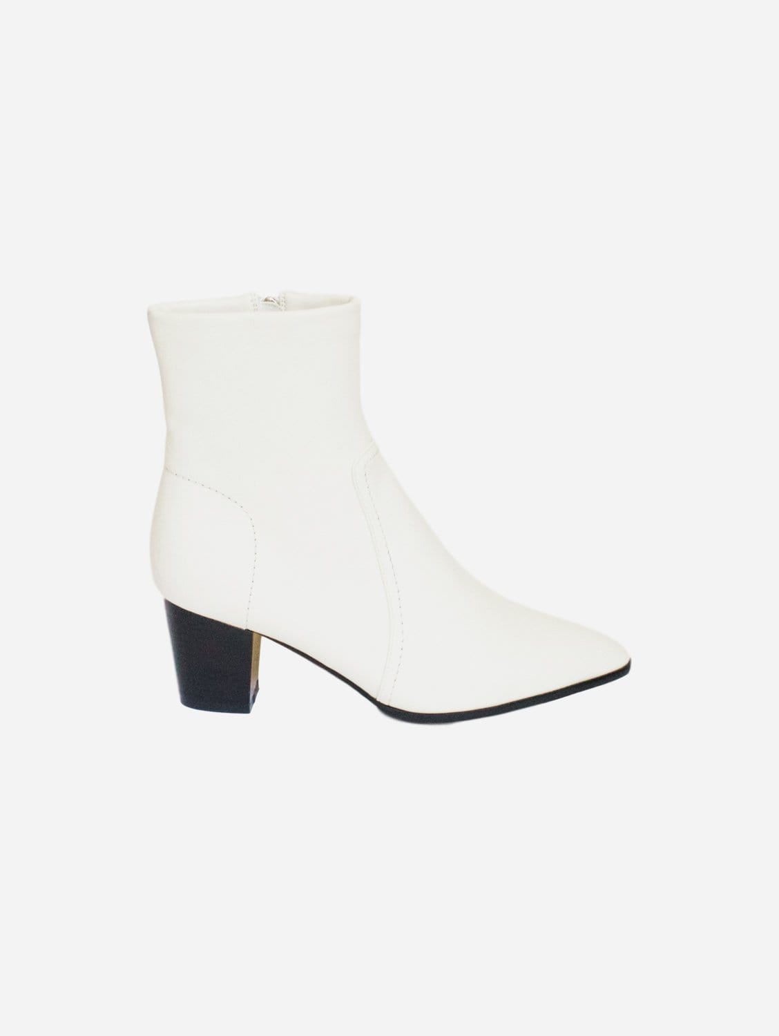 Kali Cowboy Style Up-Cycled Vegan Leather Boot | Off-White