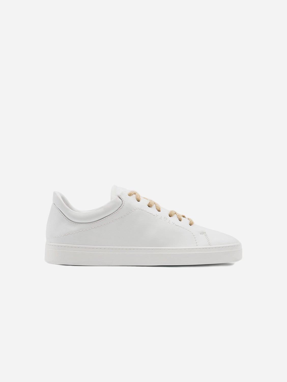 Neven Vegan Leather Low-Top Trainer | Birch White