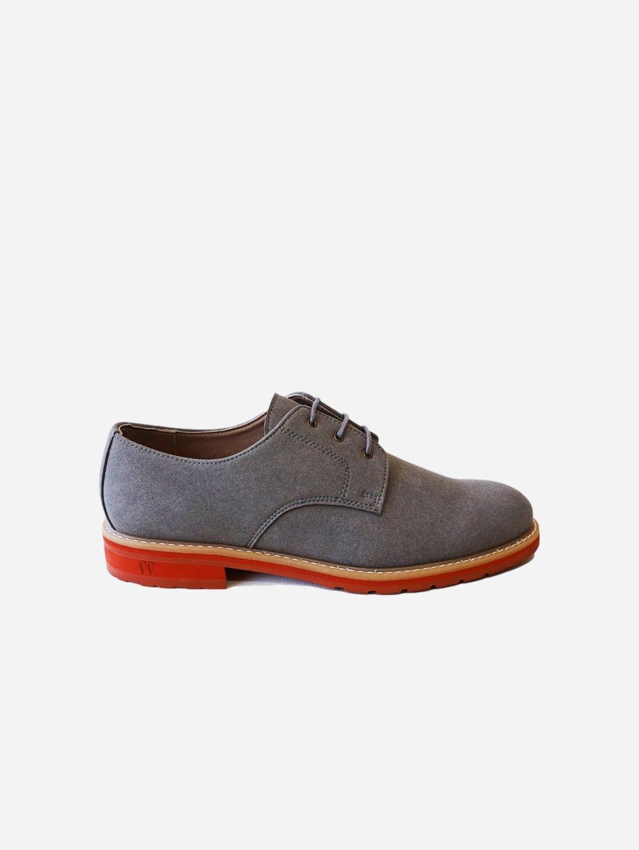 Aponi 2.0 Vegan Suede Derby Shoe | Grey