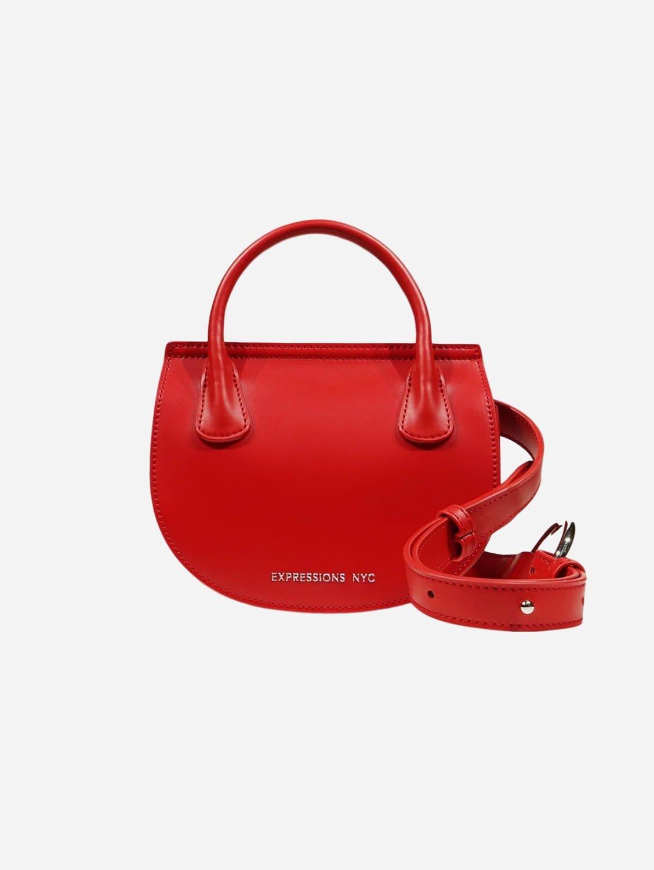 COLUMBUS AVE Vegan Leather Belt Bag | Red