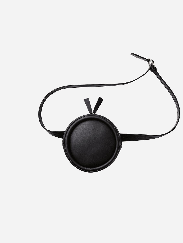 Round Vegan Leather Belt Bag | Onyx