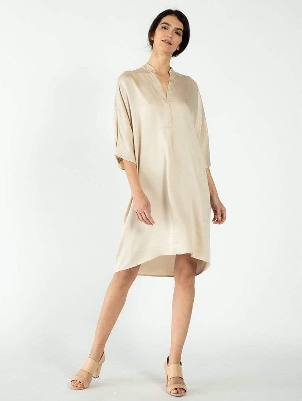 Kerala TENCEL™ Vegan Silk V-Neck Dress | Multiple Colours