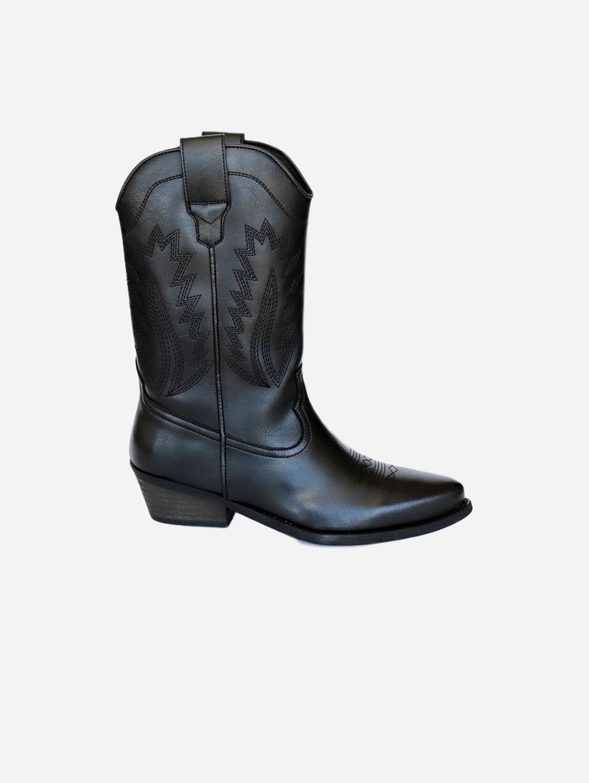 Lucky Unisex High Top Cowboy Boots | Black