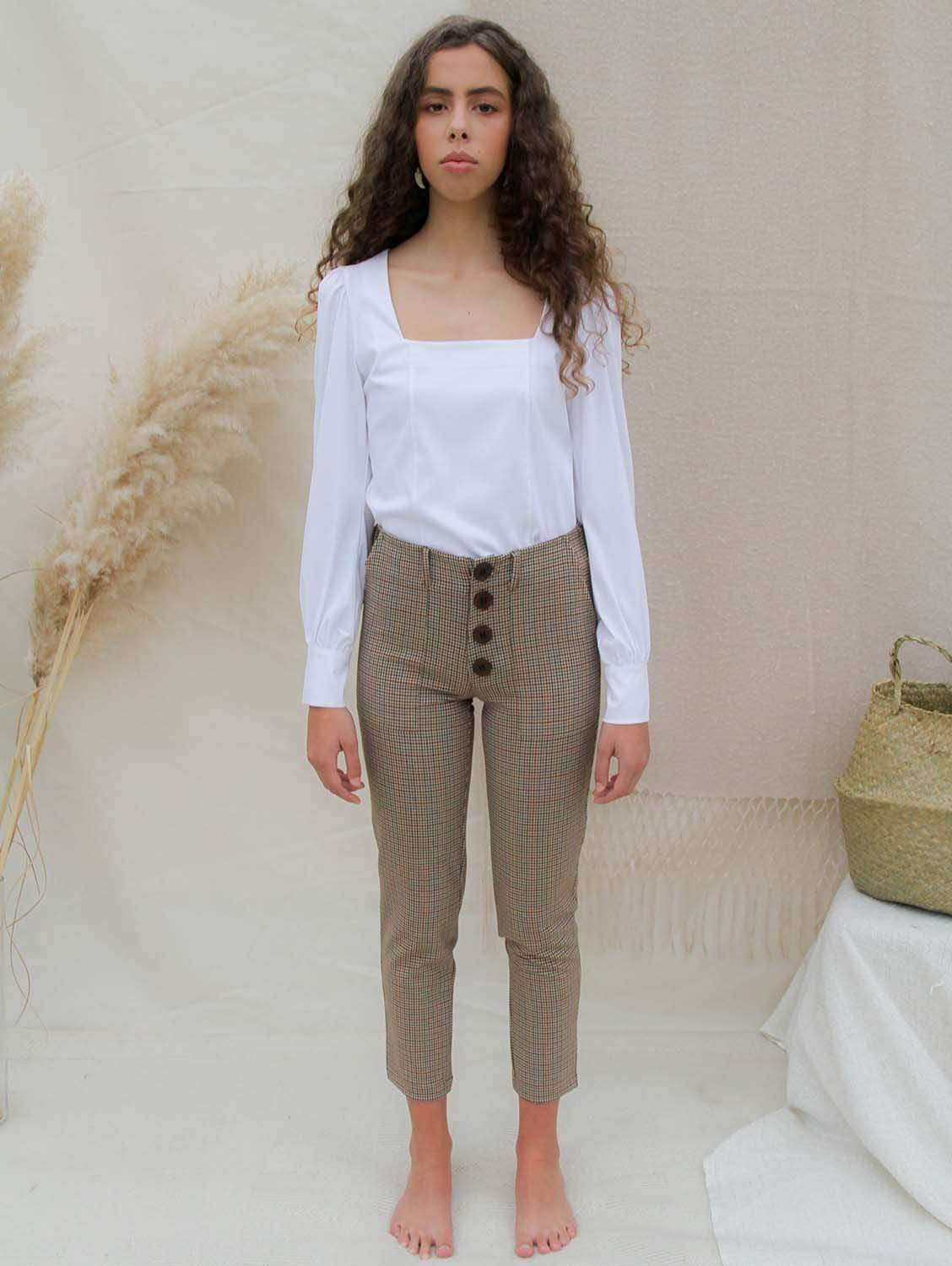 Cropped High-Waisted Trousers | Chess