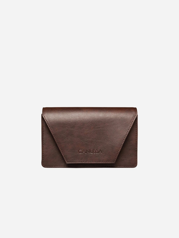 Hybrid Versatile Vegan Leather Crossbody Bag | Dark Brown
