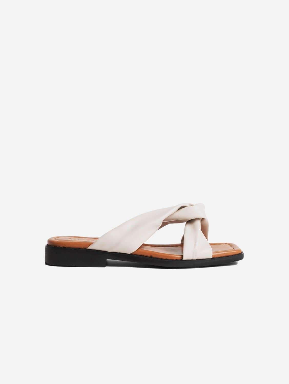 Filia Up-Cycled Vegan Leather Slip-On Sandal | Off-White