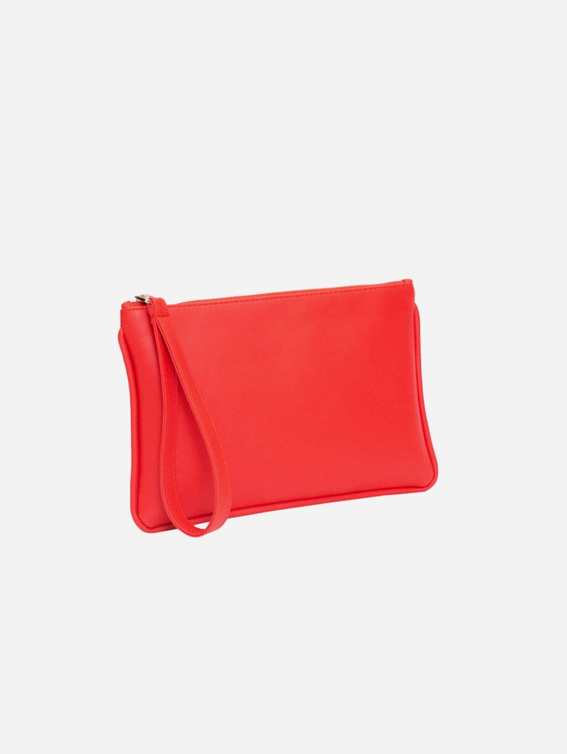 Vegan Leather Pouch Clutch | Rouge