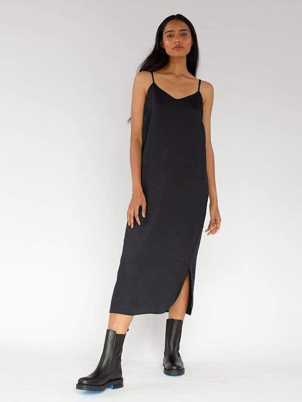 Easy Slip TENCEL™ Vegan Silk Dress | Multiple Colours
