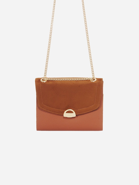 Mini Paname Oxymore AppleSkin Leather & Microsuede Crossbody | Camel