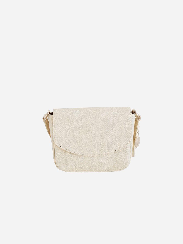 Tashi Vegan Leather Crossbody Bag | Cream