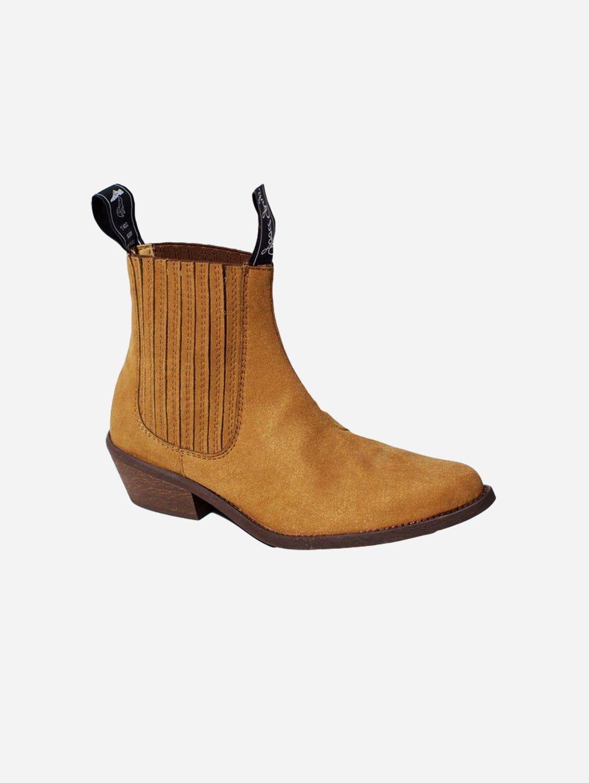 Duke Vegan Suede Cowboy Boots | Mustard