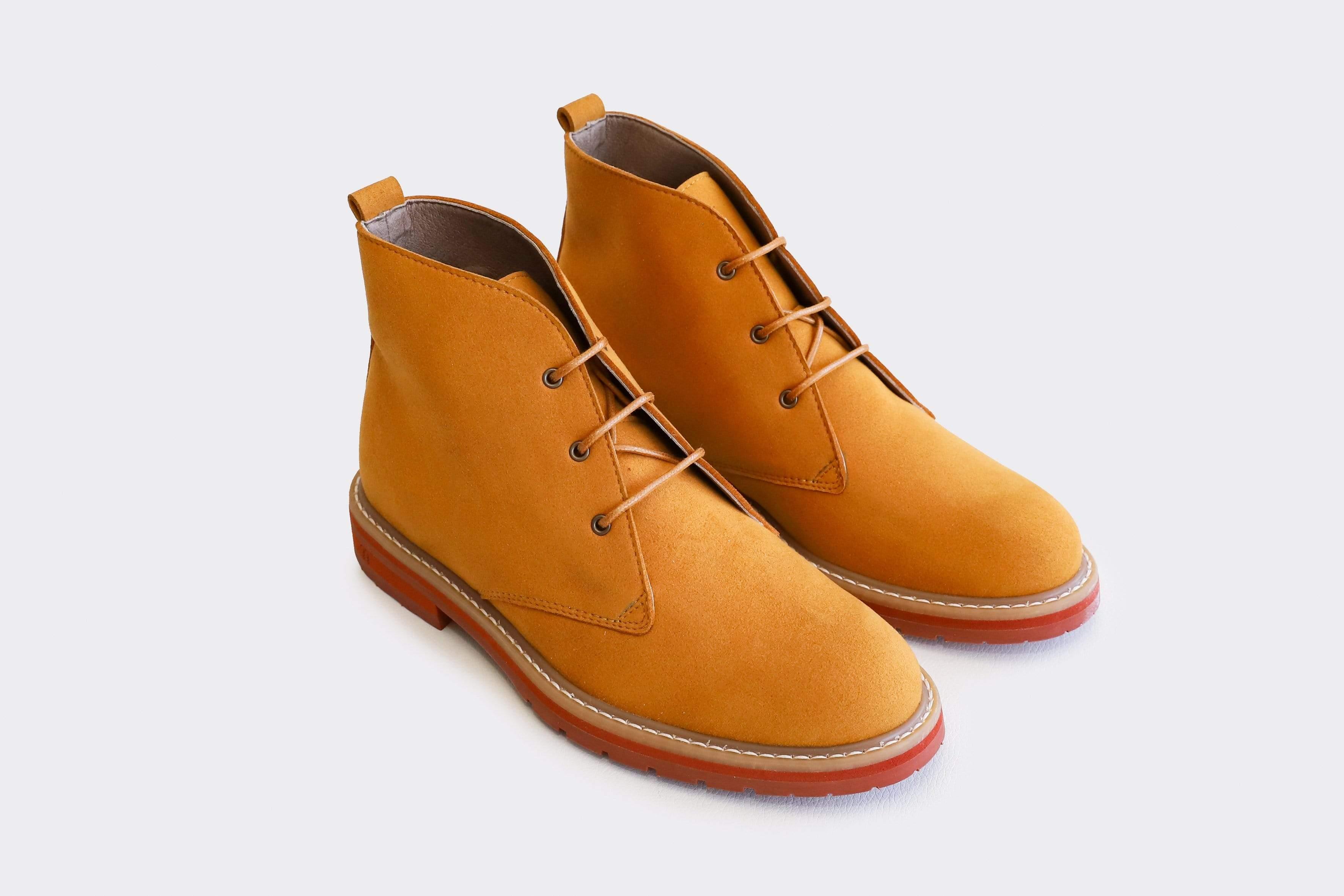 Good Guys Don't Wear Leather AYITA 2.0 Vegan Suede Desert Boot   Brandy