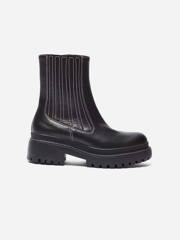 Irlanda Vegan Leather Boots   Black
