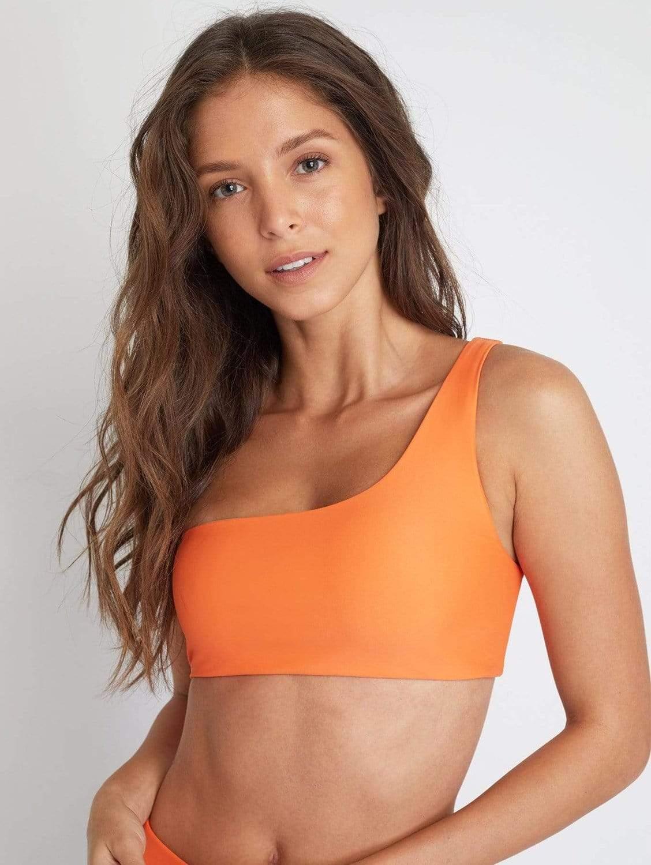 Ladoga ECONYL® Asymmetric Bikini Top | Papaya