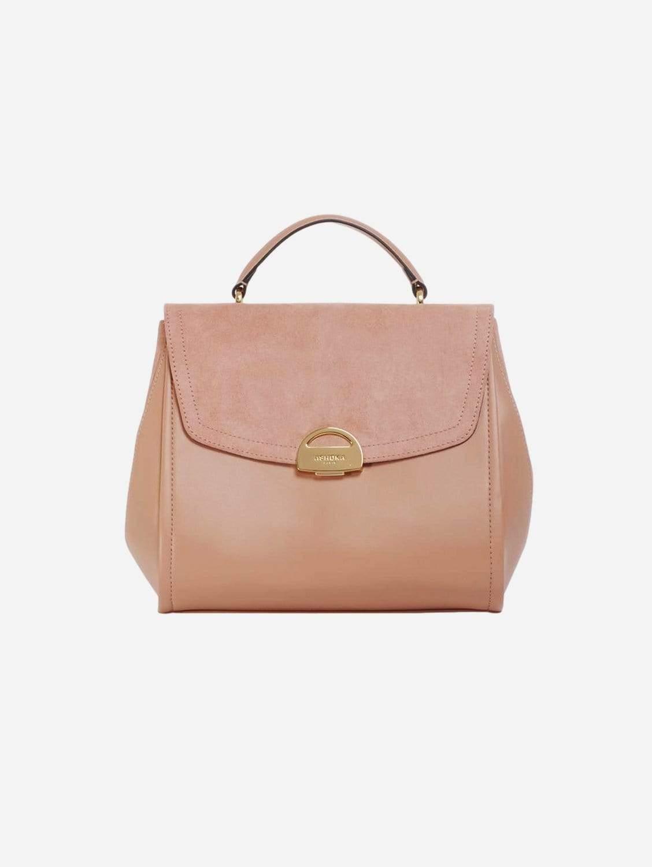 Paname Oxymore AppleSkin Vegan Leather & Microsuede Handbag | Pink Nude