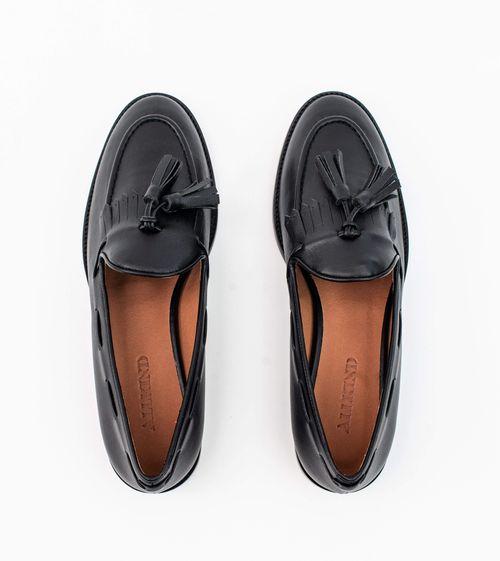 Allkind Alice Vegan Leather Tassel Loafer   Black