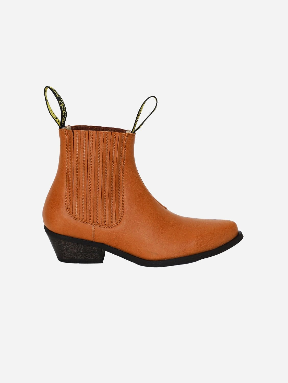 Duke Vegan Leather Cowboy Boots | Honey
