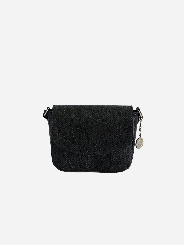 Tashi Vegan Leather Crossbody Bag | Black