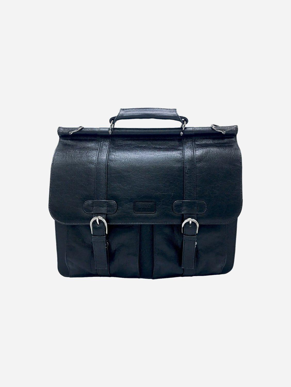Moby Mulbtex™ Vegan Leather Unisex Briefcase | Black